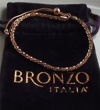 MILOR BRONZO ITALIA ROSE GOLD PLATED BRONZE TICACLLE SLIDER BRACELET NEW QVC