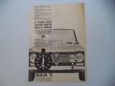 advertising Pubblicità 1964 ALFA ROMEO GIULIA TI