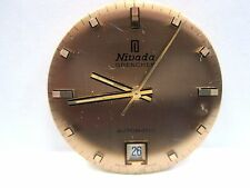 Antique Nivada Grenchen Auto Date 2nd hand Watch Movement 27 mm 17 jewels # 2622
