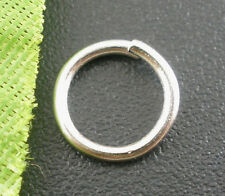500 ton argent solide open jump rings ~ 8x1mm ~ pendentif ~ sac charms ~ porte-clés (80G)