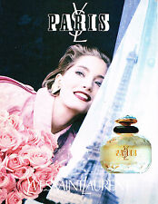 PUBLICITE ADVERTISING 045  1992  YVES SAINT LAURENT parfum femme YL