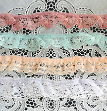 "4 different colors 1"" wide model crafts ruffled lace 16 yards total!"