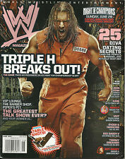 WWE Wrestling Magazine June 2008 Triple H WWF
