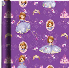 PRINCESS SOFIA THE FIRST WRAPPING PAPER ROLL GIFT WRAP ANY OCCASION 20 SQ. FEET