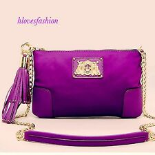 ✨��JUICY COUTURE Purple Nylon Leather Tassle Crossbody Bag��+Tags FAST����✨