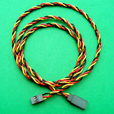 New 10 x 60cm Female Male Servo Extension Cord Cable 22AWG Twisted JR Futuba