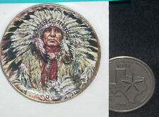 Miniature Southwest Native American Indian Warrior Chief Plate Platter CDD259