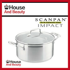 NEW Scanpan Impact 18/10 S/Steel Covered Dutch Oven Casserole 24cm - 4.8L 22015