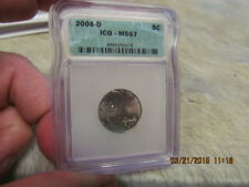 2006-D  Jefferson Nickel   ICG MS67 Certified  Beautiful Coin