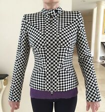 Alexander MQUEEN Women's Runway Checkers Jacket In Size 40