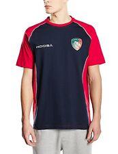 Para Hombre Medio Kooga Leicester Tigres Algodón Entrenamiento Camiseta Adulto Rugby Unión superior