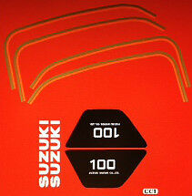 SUZUKI TS100 PAINTWORK DECAL SET