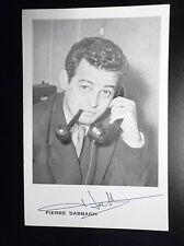 Rare Carte photographie dédicacée  Pierre SabbaghTélé Paris  Radio télé 57