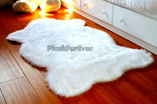 3' x 5' true white bearskins faux fur rug shaggy contemporary modern SC Love