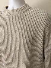 DKNY Sweater Mock Turtleneck Beige Tan Cotton Mens Size Large