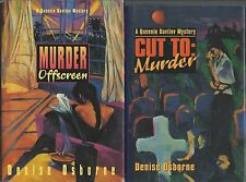 Lot of 2 Queenie Davilov HC Mys by DENISE OSBORNE~Murder Offscreen,Cut to Murder