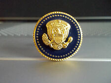 PRESIDENTIAL LAPEL PIN PRESIDENT BARAK OBAMA BLUE COBALT 24 K GOLD-PLATED
