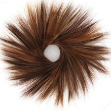 chouchou peruk cheveux châtain cuivré méché blond clair et rouge ref: 21/ 33h130