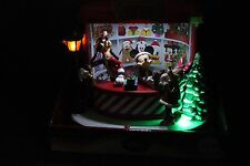 Disney Animated Mickey Christmas Light Up Musical Gift Shop Goofy Minnie NIB