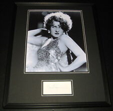 Norma Shearer Signed Framed 16x20 Photo Display