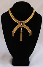 MAGNIFICENT 19C FRENCH VICTORIAN 18K HAND PAINTED ENAMELED NECKLACE