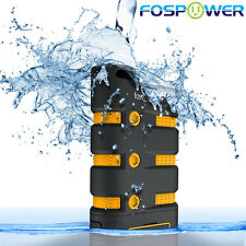 FosPower 10200mAh Heavy Duty Rugged Water IP67 Shockproof USB Power Bank Battery