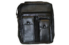 MEN'S ORGANIZER SHOULDER BAG  WITH 6 ZIPPER POCKET AND 2 SNAP POCKETS NEW  BLACK