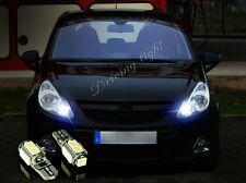 Opel zafira a 99-05 T10 9SMD LED WHITE XENON BULBS SIDELIGHTS CANBUS FREE ERROR