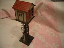 VINTAGE MARX PREWAR? POSTWAR? METAL TIN ILLUMINATED SWITCH TOWER, NICE, WORKS!!
