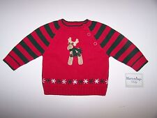 NWT HARTSTRINGS BABY BOY SWEATER SIZE 3-6 MONTHS CHRISTMAS