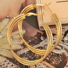 Saucy 24k Yellow Gold Filled Real Gold Filled Womens Hoop Earrings Big Earings