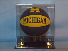 Mini basketball acrylic display case 85% UV filtering memorabilia NBA NCAA