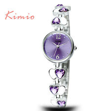 KIMIO Small Dial Hearts Casual Relogio Quartz Wrist Bracelet Lucky Women Watches