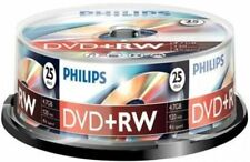 100 PHILIPS 4X DVD+RW DVDRW ReWritable Disc 4.7GB Branded Logo 4x25pk Spindle