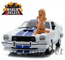 CHARLIE'S ANGELS 1976 FORD MUSTANG COBRA II 1/18 with FARRAH FAWCETT FIGURE