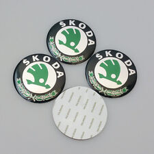 4x Stickers Caps 56mm For Skoda Centre Hub Wheel Cap Emblem Sticker - UK
