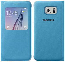 Genuine SAMSUNG S VIEW FLIP CASE GALAXY s6 g920 Mobile Cellulare Cover Originale