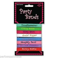 BACHELORETTE 21st Birthday PARTY FAVOR WRIST BANDS (8 COUNT) Novelty Accessory