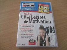 pc cd-rom reussir ses cv et lettres de motivation