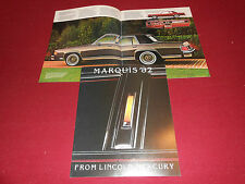 1982 MERCURY MARQUIS, GRAND MARQUIS BROCHURE / SALES CATALOG