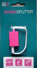 Stereo-Audio-Splitter 3.5 mm Klinkenstecker/Buchse 4-polig Farbe pink