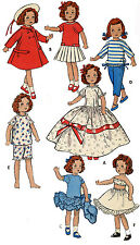 Vintage Doll Clothes PATTERN 8799 for 12 in Ginny Muffie Gigi Mary Lou by Vogue