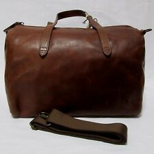 Womens Ladies TIMBERLAND PARKSIDE HANDBAG 100% distressed Brown Leather Bag Bags