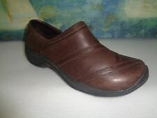 Merrell Brown Spire Stretch Q-Form oil Leather Performance Walk Moc Shoe Sz 9