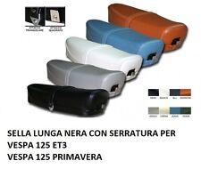 SEDILE SELLA LUNGA CON SCRITTA PIAGGIO PER VESPA SPECIAL 50 125 SERRATURA CHIAVE