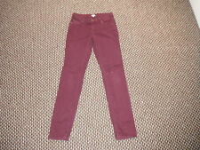 "White Scuff Classic Fit Jeans Size10 Leg 32"" Faded Purple/Maroon Ladies Jeans"