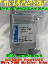 Compatible PFI-102 for Canon ipf 500 510 600 605 610 650 720 700 710 CYAN 750