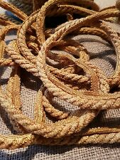 old gold vintage flange cord for textile embellishments