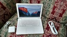 "Apple MacBook White.13"" a1342. MC207. 250GB HDD. NEW 8GB RAM.OS X EL CAPITAN."