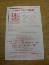 04/01/1969 Leatherhead v Dorking [Surrey Senior Cup] (small mark). Any faults ar